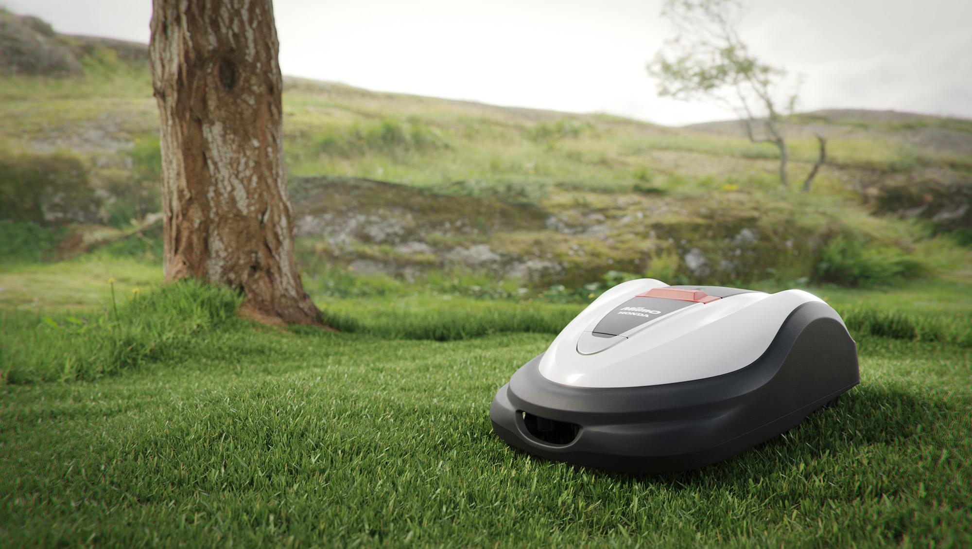 Honda Miimo robotklipper i norsk hage